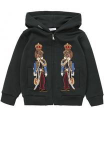 Спортивный кардиган из хлопка с аппликациями Dolce & Gabbana