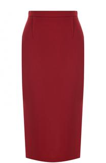 Шерстяная юбка-карандаш с контрастной молнией Roland Mouret