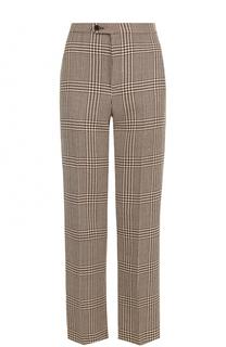 Шерстяные брюки прямого кроя в клетку Ralph Lauren