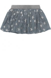 Мини-юбка с металлизированным принтом в виде звезд Stella McCartney