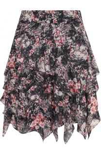 Мини-юбка с оборками и принтом Isabel Marant Etoile