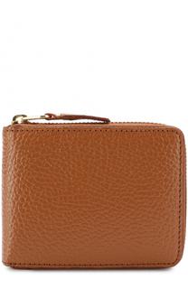 Кожаное портмоне на молнии с отделениями для кредитных карт и монет Comme des Garcons
