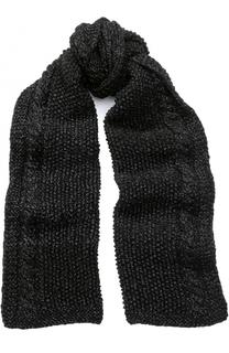 Шерстяной шарф с отделкой металлизированной нитью 7II