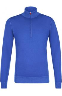 Кашемировый свитер с воротником на молнии Kiton