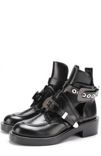 Кожаные ботинки Creepers с ремешками Balenciaga
