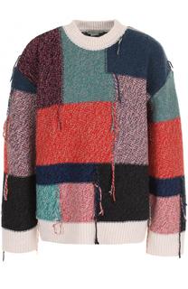 Шерстяной пуловер свободного кроя с круглым вырезом Stella McCartney
