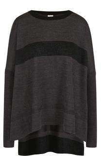 Пуловер свободного кроя с удлиненной спинкой Deha