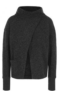 Шерстяной свитер с разрезом на груди Deha