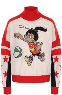 Шерстяной свитер с принтом Stella McCartney