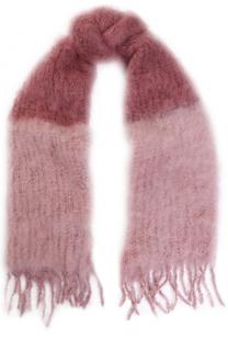 Мохеровый шарф с бахромой Balmuir