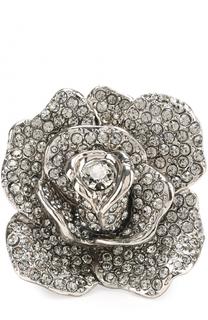 Кольцо в виде цветка со стразами Oscar de la Renta