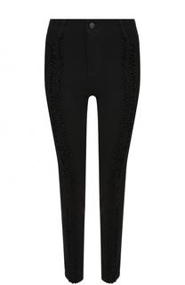 Однотонные джинсы-скинни с бархатной отделкой Stella McCartney