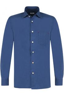 Хлопковая рубашка с воротником кент Kiton