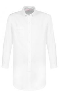 Хлопковая однотонная сорочка Derek Rose