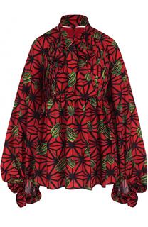 Блуза с принтом и воротником аскот Stella Jean