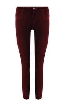 Укороченные бархатные брюки-скинни Paige