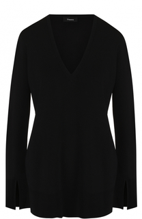 Пуловер свободного кроя с V-образным вырезом Theory