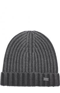 Шерстяная шапка фактурной вязки Emporio Armani