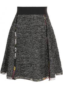 Мини-юбка А-силуэта с широким поясом Dolce & Gabbana