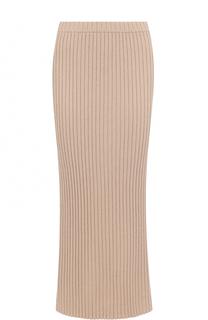 Кашемировая юбка-миди фактурной вязки Allude