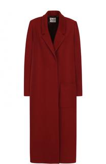 Шерстяное пальто свободного кроя с накладным карманом Forte_forte