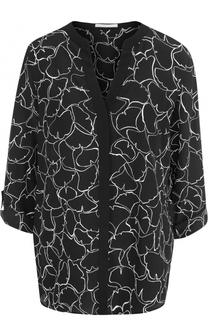 Блуза с V-образным вырезом и принтом BOSS