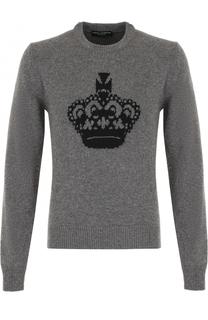Шерстяной свитер с принтом Dolce & Gabbana