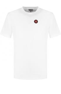 Хлопковая футболка с аппликациями Lanvin