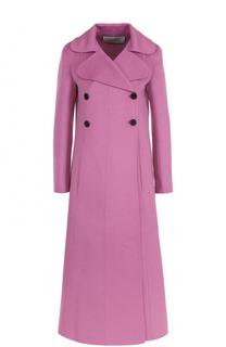 Шерстяное двубортное пальто Valentino