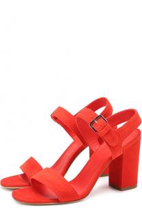 Замшевые босоножки на устойчивом каблуке Loro Piana