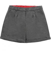 Мини-шорты из шерсти с отворотами Dolce & Gabbana