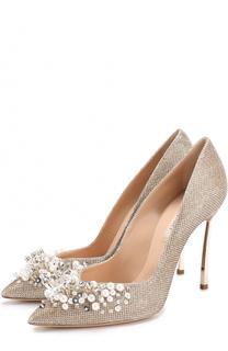 Туфли с декоративной отделкой на шпильке Blade Casadei