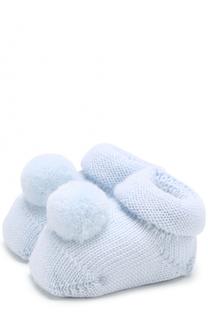Вязаные носки с помпоном Catya