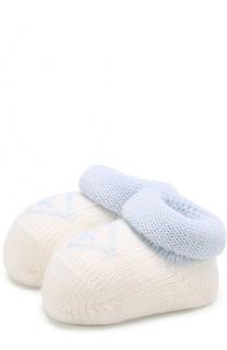 Вязаные носки с контрастной отделкой Catya