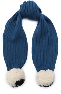 Вязаный шарф с помпонами Stella McCartney