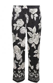 Укороченные расклешенные брюки с цветочным принтом St. John