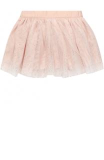 Мини-юбка со стразами и эластичной вставкой на поясе Stella McCartney