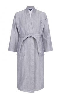 Хлопковый халат с поясом Ralph Lauren
