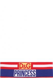 Шерстяная повязка с принтом Dolce & Gabbana