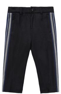 Шерстяные брюки прямого кроя с лампасами Dolce & Gabbana