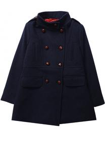 Двубортное пальто из шерсти с воротником-стойкой Oscar de la Renta