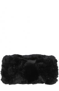 Повязка из меха кролика Yves Salomon