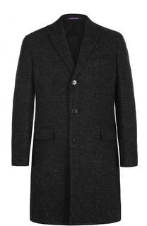 Шерстяное однобортное пальто Ralph Lauren