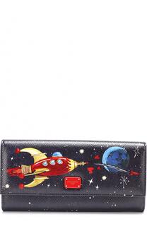 Кожаный кошелек с принтом с клапаном Dolce & Gabbana