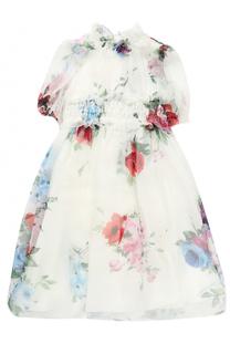 Комплект из шелкового платья-макси с трусами Dolce & Gabbana