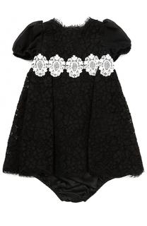 Комплект из кружевного платья с трусами Dolce & Gabbana