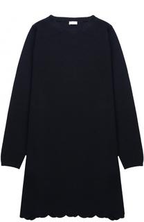 Вязаное мини-платье прямого кроя с фигурным подолом Il Gufo