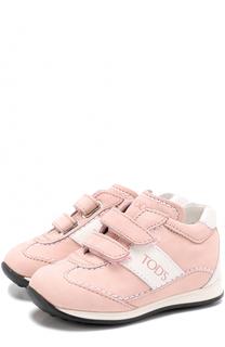 Кожаные кроссовки с застежками велькро Tod's Tods