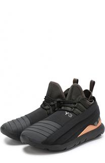 Текстильные кроссовки с фактурной отделкой Y-3