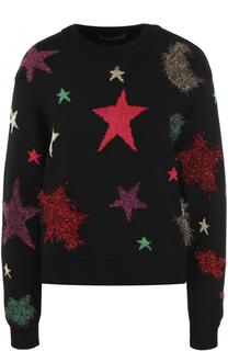 Шерстяной пуловер с отделкой в виде звезд Dolce & Gabbana
